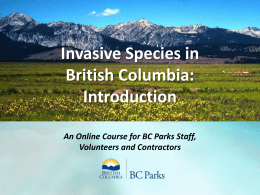 Online Training Course - Invasive Species Council of British Columbia