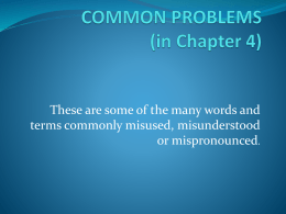 Common Problems Athru L
