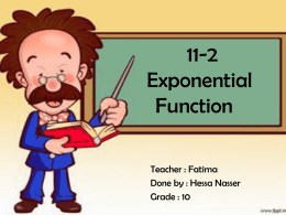 11-2 Exponential Function