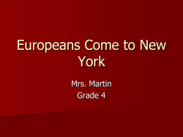 Europeans Come to New York