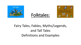 Folktales mine - 3rd Grade Resources