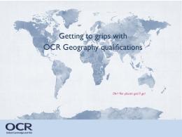 OCR Geography Presentation GCSE 9