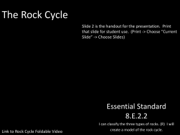 The Rock Cycle Powerpoint and Graphic Organizer