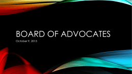 Board of Advocates Fall 2015 Computer Science Report
