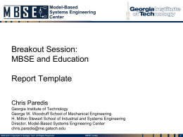 Georgia Tech MBSEC Overview