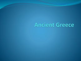 Ancient Greece - Mr. Gunnells` Social Studies Class
