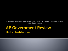 AP Government Review 4 (Institutions) Answers