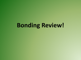 Ionic Bonding2016