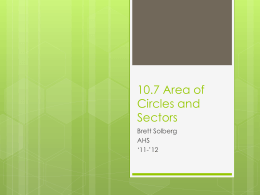 10.7 Area of Circles and Sectors