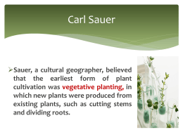 Carl Sauer identified three hearths for seed agriculture in the