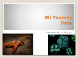 Comparing Two Occupations PPT - Eli Toombs` Senior Project
