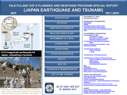 japan earthquake and tsunami