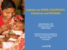 6. Updates on MSNP_SUN_REACH_MYCNSIA_MoHP