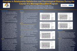 Changes in Relationship Satisfaction and Psychological Distress