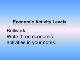 4 levels of economic activity