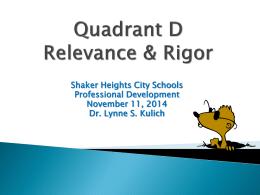 Quadrant D - Shaker.org