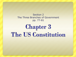 Chapter 3 The US Constitution