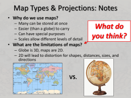 Map Projection Notes