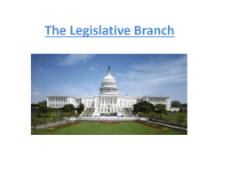 The Legislative Branch Bell Ringer