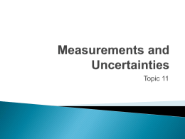 Measurements and Uncertainties - Miami Beach Senior High School