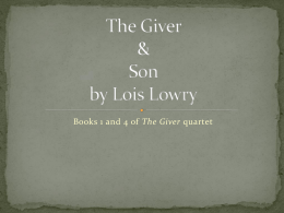 The Giver and Son ppt