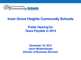 General Fund Levy Changes - Inver Grove Heights Community