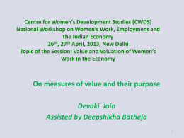 Centre for Women*s Development Studies (CWDS) National