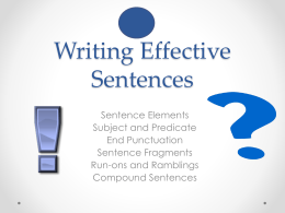 Writing Effective Sentences Packet