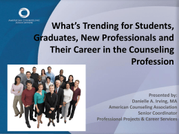What`s Trending for Students, Graduates, New Professionals