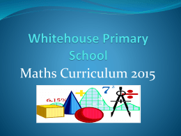 Maths - Whitehouse Primary School