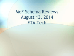 MeF Schema Reviews