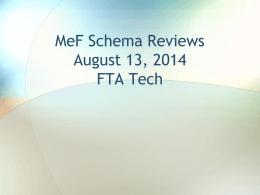 MeF Schema Reviews