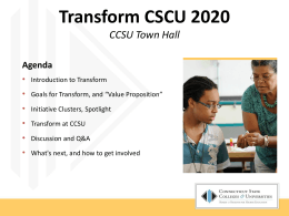 PowerPoint presentation from CCSU Town Hall meeting