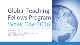 Global Teaching Fellows Program Week One 2016