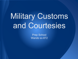 Military Customs and Courtesies Prep School Wando sc-872