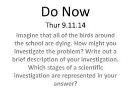 Do Now Thur 9.11.14 - Mr. Salmon`s Biology