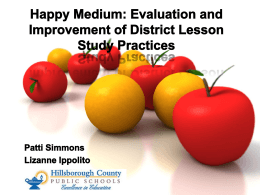 Evaluation and Improvement of District Lesson Study Practices