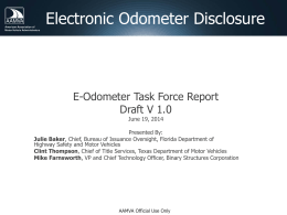 Electronic Odometer Disclosure