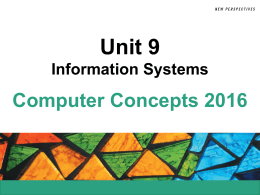 Unit 9 Information Systems