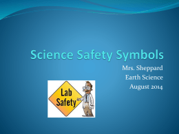 Science Safety Symbols Power Point