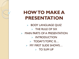 how to make a presentation