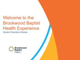 Student Orientation - Brookwood Baptist Health
