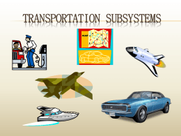 Transportation Subsystems
