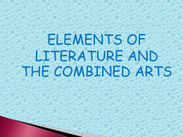 chapter 7 elements of literature and the combined arts