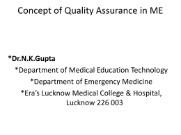 Concept of Quality Assurance in ME[PPT]