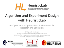 - HeuristicLab