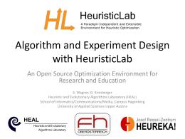 - HeuristicLab