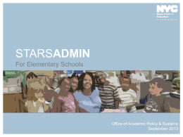 Stars for Elementary Schools - Community School District 19