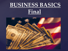 Business Basics Final 1 - Westmoreland Central School