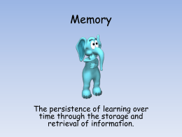 Memory - AP Psychology Community